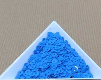Sequin diva blue neon 4 mm in bulk