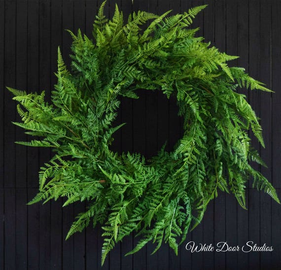 Fern Greenery Front Door Wreath