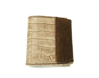 Leather wallet. brown wallet. leather coin purse. Leather bifold. men wallet