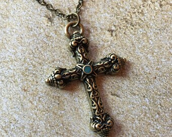 Metal Cross Pendant, Necklace, Pendant, For Her, Womens Jewelry, Gift Ideas