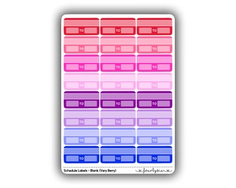 Schedule Labels - Blank (Very Berry)