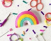 Sewing kit, Rainbow keyring, rainbow badge, DIY felt craft kit, felt sewing kit, craft kit, kids crafts, felt craft, sewing projects