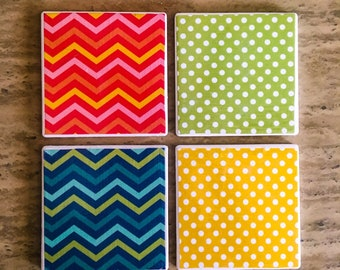 Decoupage tile coasters