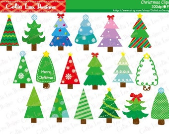 CHRISTMAS CLIPART ,  Christmas Tree Clipart, Christmas Tree Digital Clip art