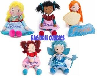 Rag doll Cubbie, Monogram rag doll, Baby Shower Gift, Baby monogram doll, Mermaid doll, Monogram Rag dolls, Plush rag doll, Monogram mermaid