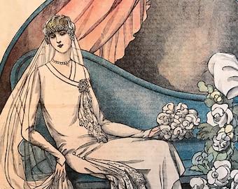 Le Petit Echo de la Mode April 22, 1928 Fashion Magazine France 1920's