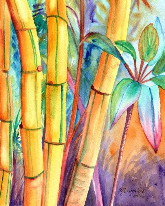 Bambus Bambus Kunstdrucke Kauai Maui Oahu Hawaii Japanische
