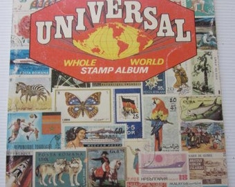 Uuniversal Whole WORLD STAMP ALBUM Space For Thousands Of Stamps 1972