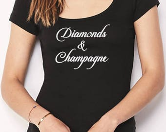 Diamonds & Champagne T-Shirt - Diamonds and Champagne Tee - Diamonds and Champagne T-Shirt - Diamonds and Champagne Apparel