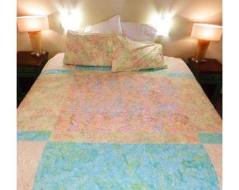 Handmade Duvet, Anniversary Gift, Duvet Cover Queen, Floral Duvet, Womens Gift, Patchwork Bedspread