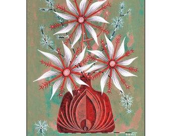 Red Vase Fine Art Print