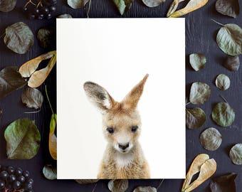 Kangaroo print, PRINTABLE art, Nursery animals, Animal prints, Baby animals, Nursery printables, Nursery wall art, Nursery decor, Joey print