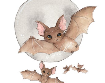 Batty For Bats Fine Art Print
