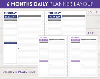 6-Month Daily Planner Pages