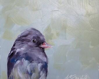what a hoot // original bird painting // bird painting // bird art // original art // fine art // art // painting //