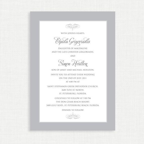 Printable Wedding Invitation with RSVP card - Printable Invitation - Digital Invitation