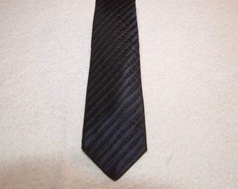 Vintage Navy Lanvin Silk Blend Slim Tie