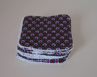 Washable Petit Pan black polka dot fabric and Terry cloth