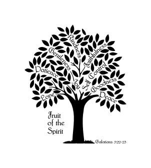 Fruit Of The Spirit Tree Galatians 5 Vinyl Wall Decal