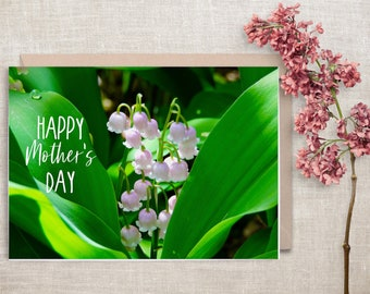 Lily of the Valley, Mother's Day Card, Printable Card, Instant Download, 5x7
