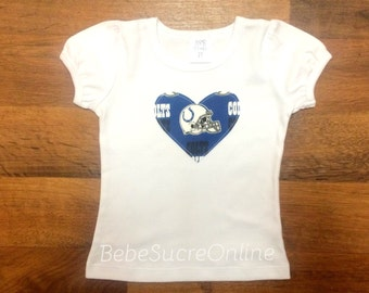 Indianapolis Colts Girls Puff Sleeve Top