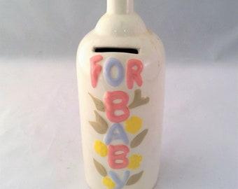 Bottle Baby Bank - Kitsch Ceramic Baby Bank