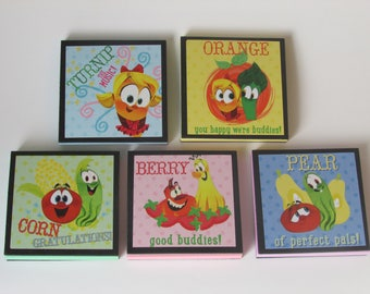 Veggie Tales Note Pads Set of 5 - Excellent Party Favors - Veggie Tales Birthday Party Favors