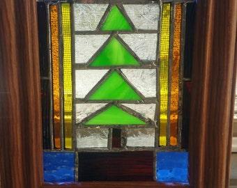 Framed Stained Glass Artwork