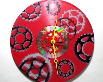 Record CD Sprocket Clock
