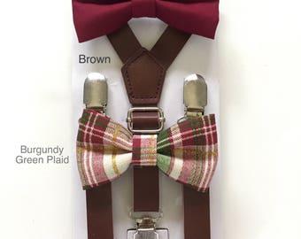 Burgundy Bowtie Wine bow ties for  Boys Kids baby infant toddler Men Adult Maroon Grooms Neck tie Groomsmen Wedding Bow tie Ring bearer gift
