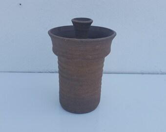 Vintage  Studio Pottery  Signed - Lidded Jar.