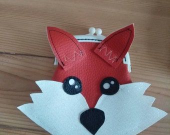 Kawaii Fox wallet in faux leather clasp