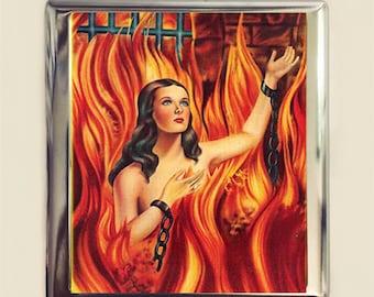 Anima Sola Cigarette Case Business Card ID Holder Wallet Catholic Purgatory Catholicism