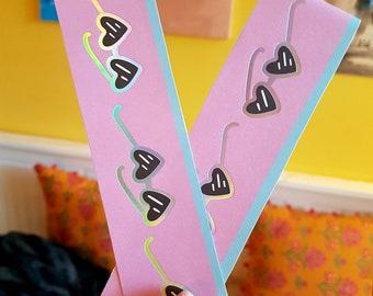 Heart Sunglasses Bookmark