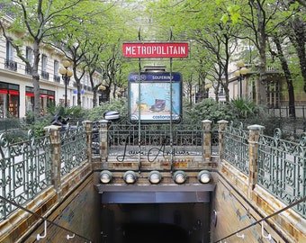 Metro Paris France Fine Art Print Wall Art Home Decor France Photography Metro Station St. Germain