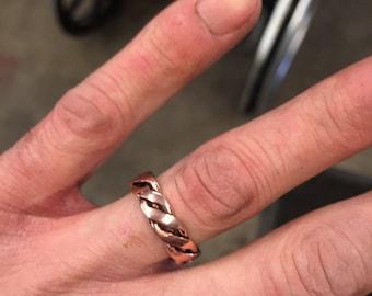 Handmade copper rings