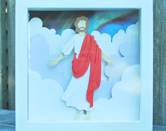 8x8 Jesus Christ Second Coming Shadowbox--MADE TO ORDER