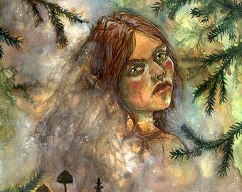 Troll Girl - fantasy art print