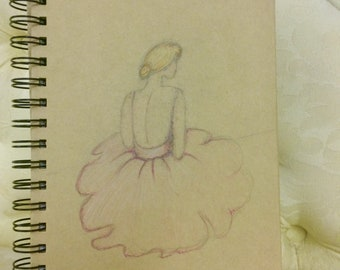 ballerina sketch journal/notebook