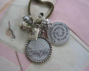 Personalized friendship Keychain
