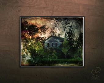 """The Ghost House, 14"""" x 11"""" Print"""