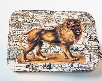 Wild Animal Tags - Set of 6 - Vintage Animals - Variety Animal Tag - Gift Tags - Lion Tag - Camel Tag - Hippo Tag - Zoo Animal Tags -