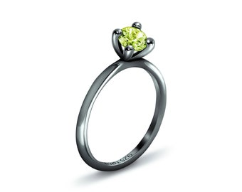 Plain Peridot - Peridot Ring Silver, Stack Rings, Peridot Silver Rings, Peridot Jewelry, Peridot Ring, Stackable Ring, 925 Silver Ring