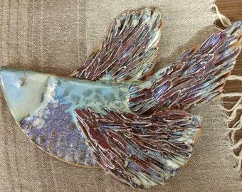 Ceramic Wall Bird, Ceramic Art, Stoneware Tile Art