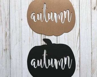 Autumn Pumpkin Metal Sign