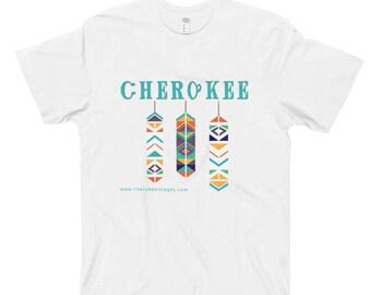 Feathers Cherokee T-Shirt Tsalagi Cherokee Designed