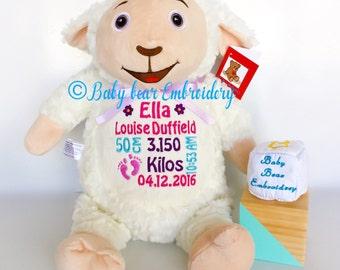 personalised teddy bear, lamb, sheep