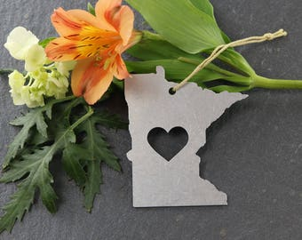 Minnesota Spring Decor  Ornament Custom Gift for Her Personalized Stamping Engraving State Souvenir Travel Home Rustic Wedding Father's Day