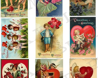 Valentines Collage Sheet 2