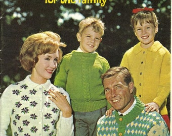 Elle family knit pdf vintage 1963 style right sweaters for the family knit and crochet patterns fandeluxe Choice Image